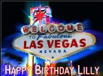 A4 Las Vegas Personalised Edible Icing or Wafer Paper Cake Top Topper